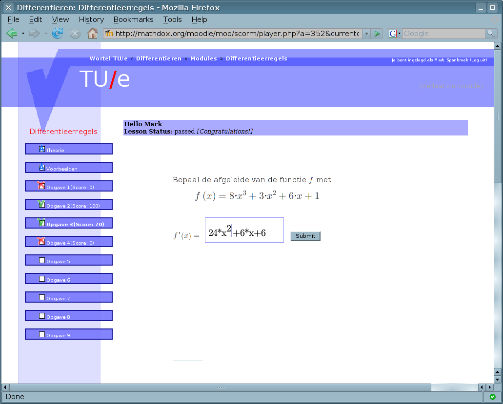 MathDox formula editor